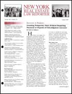 Legal Magazines & Periodicals New York Real Estate Law Reporter
