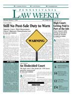 Legal Magazines & Periodicals Pennsylvania Law Weekly
