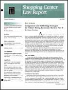 Legal Magazines & Periodicals Shopping Center Law Report